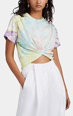 Sprwmn Women's Tie-Dyed Cotton Crop Top