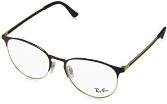 Ray-Ban Women's 0RX 6375 2890 Optical Frames, (Gold Top in Black)