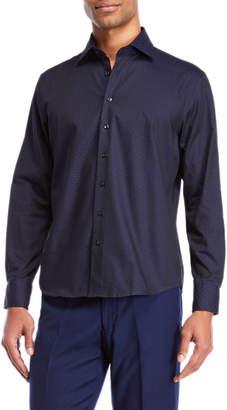 Toscano Mini Dot Jacquard Sport Shirt