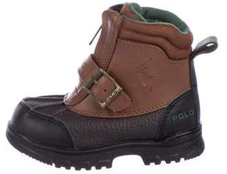 Polo Ralph Lauren Boys' Leather Round-Toe Boots