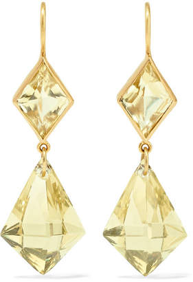 Marie Helene De Taillac Marie-Hélène de Taillac - 22-karat Gold Quartz Earrings