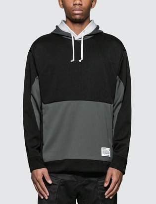 White Mountaineering Contrasted Side Zipped Hoodie