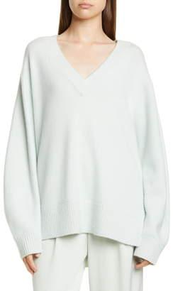 Vince V-Neck Cashmere Tunic Sweater