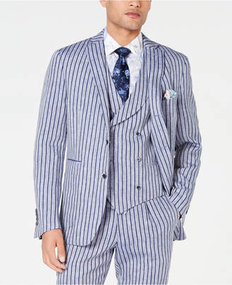 Tallia Men Slim-Fit Stripe Suit Jacket