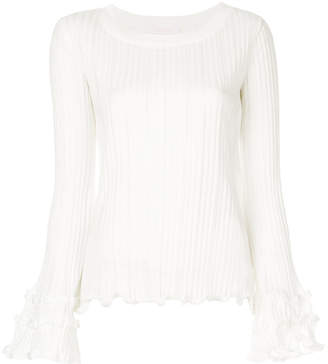 See by Chloe frilled rib knit sweater