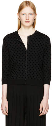 Marc Jacobs Black Polka Dot Cardigan