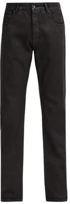 Rick Owens Detroit Coated Jeans - Mens - Black