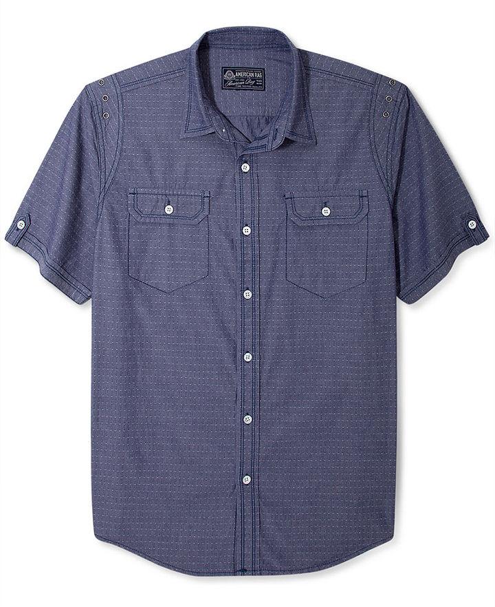 American Rag Shirt, Solid Texture Short Sleeve Shirt
