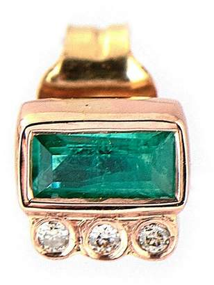 Celine Daoust Single Emerald Baguette Stud Earring