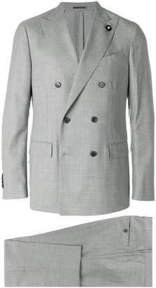 Lardini double-breasted formal suit
