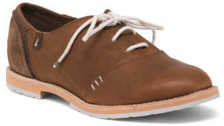 Leather Comfort Oxfords