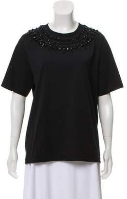 Givenchy Embelliished Short Sleeve T-Shirt