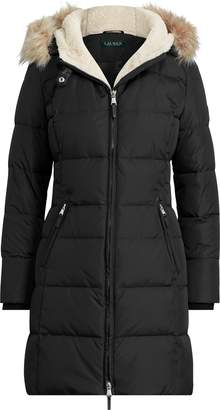 Ralph Lauren Faux-Fur-Trim Hooded Jacket