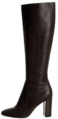 Gianvito Rossi Leather Knee-High Boots Olive Leather Knee-High Boots