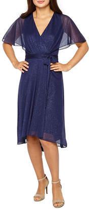 J Taylor Short Kimono Sleeve Embellished Fit & Flare Dress