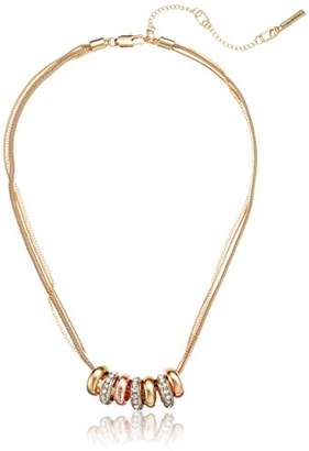 Kenneth Cole New York Kenneth Cole New Women's Trinity Rings Tri-Tone Circle Charm Necklace