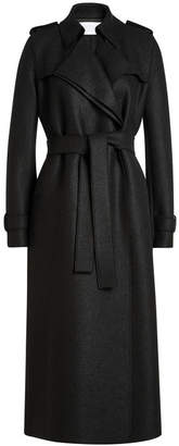 Harris Wharf London Virgin Wool Trench Coat