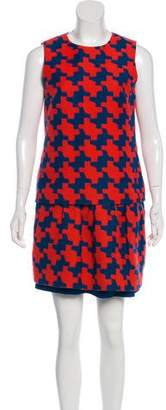 Diane von Furstenberg Printed Wool-Blend Dress Suit Set