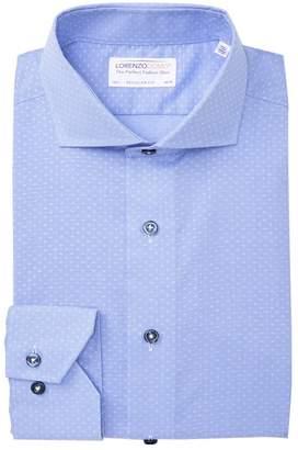 Lorenzo Uomo Dobby Weave Regular Fit Dress Shirt
