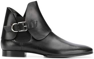 Pierre Balmain side buckle Chelsea boots
