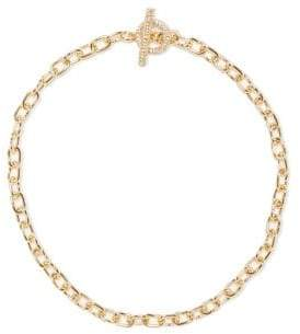 Vince Camuto Crystal Status Chain Link Necklace
