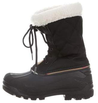 Burberry Kids' Quilted Snow Boots