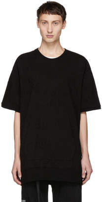 Julius Black Oversized Front Pocket T-Shirt