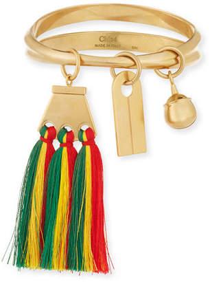 Chloé Janis Fringe Bangle Charm Bracelet