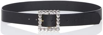 Quiz Black Diamante Square Buckle Belt
