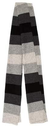 White + Warren Striped Knit Scarf