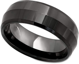 Macy's Men's Ring, Black Ceramic Ring
