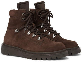 Moncler Egide Shearling-Lined Suede And Nylon Hiking Boots