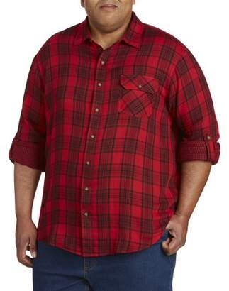 Canyon Ridge Men's Big And Tall Roll Sleeve Double Face Shirt, Up To 7Xl
