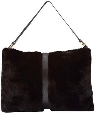 Non Signé / Unsigned Non Signe / Unsigned Black Mink Clutch Bag