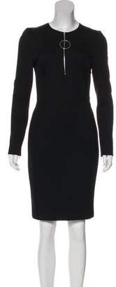 Thierry Mugler Long Sleeve Knee-Length Dress