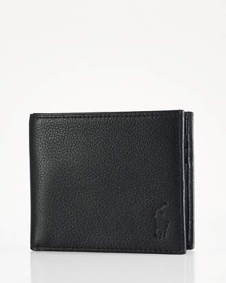 Polo Ralph Lauren Pebbled Leather Billfold Wallet