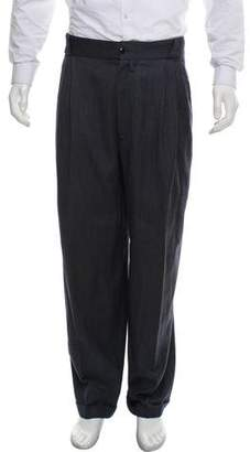 Gianni Versace Wool-Cashmere Blend Pants