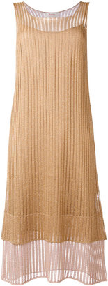 Jucca glittery layered midi dress $214.04 thestylecure.com