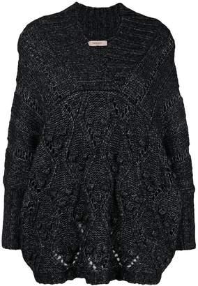 Twin-Set oversized V-neck jumper