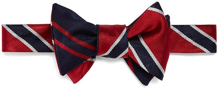 Social Primer Reversible Bow Tie: BB#2 Stripe and Twin Stripe