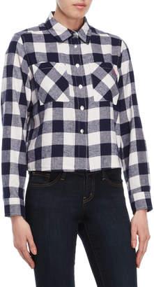 U.S. Polo Assn. Cropped Flannel Shirt