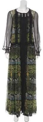 Alberta Ferretti Silk Printed Maxi Dress