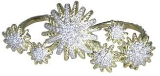 David Yurman 18K Yellow Gold & 0.46ct. Diamond Starburst Ring Size 7