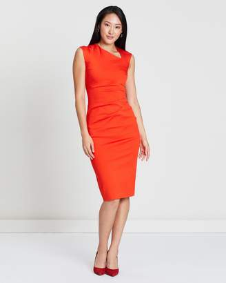 Karen Millen Asymmetric Neckline Dress