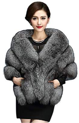 HotgirlDress Women's Faux Fur Wrap Cape Shawl for Women's Wedding Dresses and Ladies Party