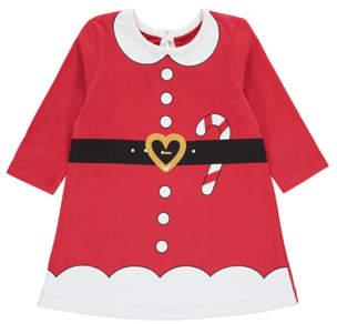 George Red Miss Santa Claus Baby Mini Me Christmas Dress