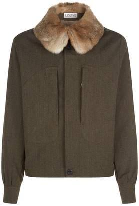 Loewe Rabbit Fur Collar Jacket