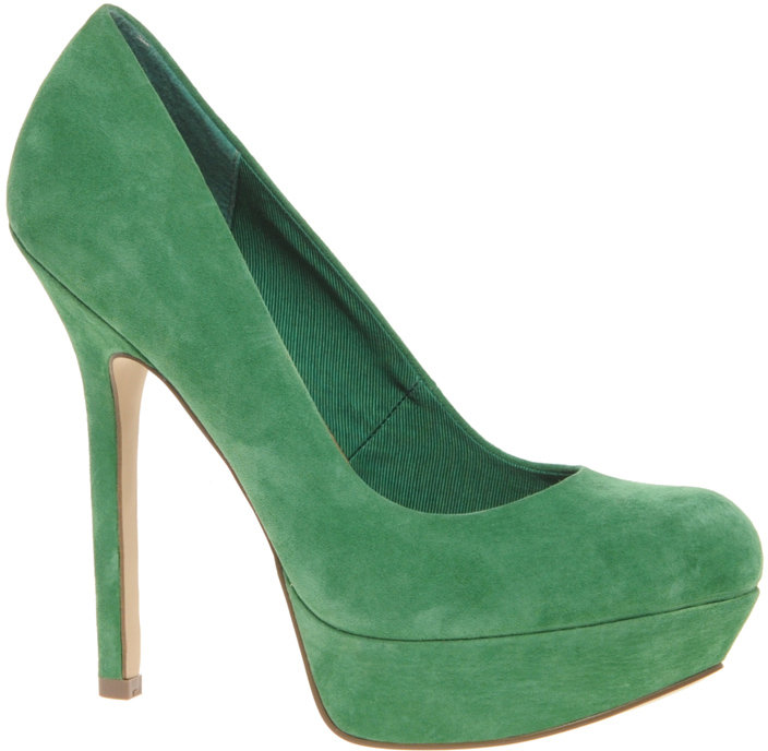 ASOS PUMP IT UP Suede Platform Court Shoe