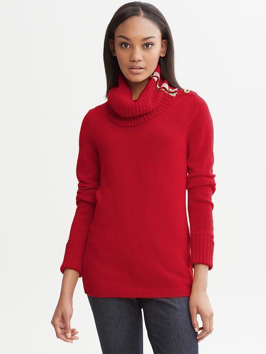 Banana Republic Button-neck sweater