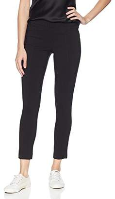 My Michelle Leighton By Women's Slim Mid-Rise Pull on Career Pant